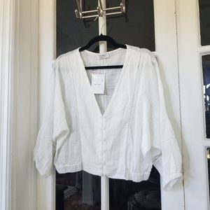 NWT - Peasant Blouse in White
